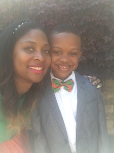 Adrienne Brooks and her son Christian